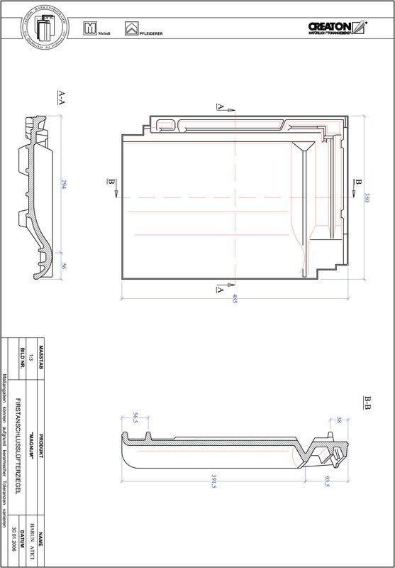Proizvod CAD file MAGNUM podsljemeni odzračni crijep FALZ