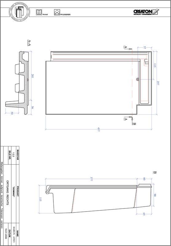 Proizvod CAD file DOMINO rubni desni OGR