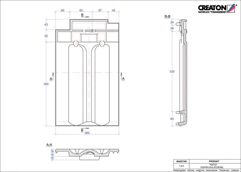 Proizvod CAD file RATIO crijep sa dva vala DWZ