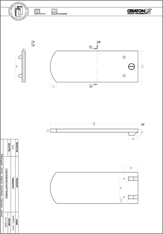 Proizvod CAD file AMBIENTE segmentni rez SEG-3-4