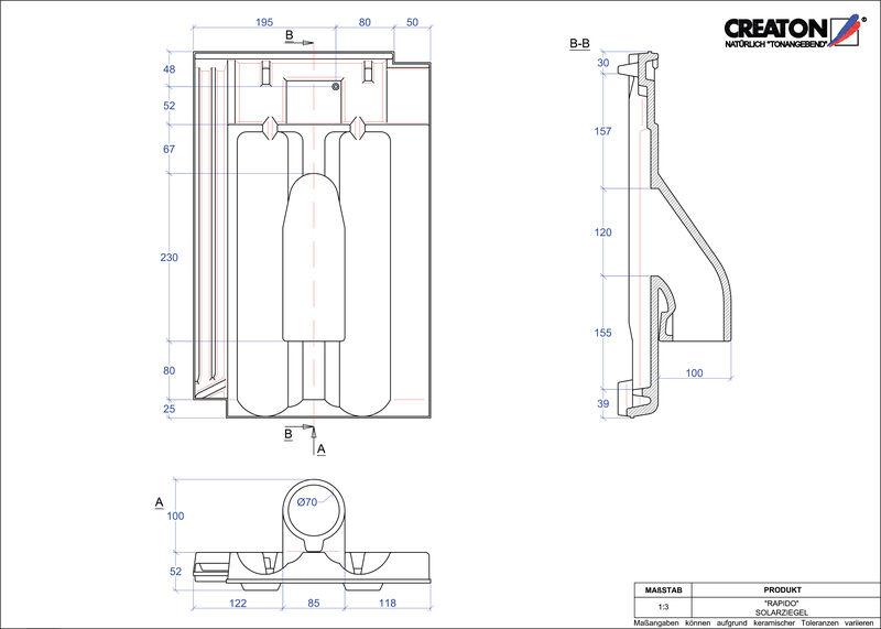 Proizvod CAD file RAPIDO prolaz cijevi solarnog kolektora SOLAR