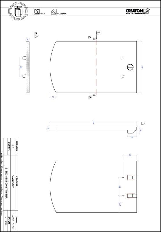 Proizvod CAD file AMBIENTE segmentni rez SEG-1-1-4
