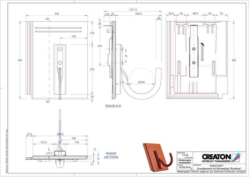 Proizvod CAD file KAPSTADT osnovna ploča Rundholz