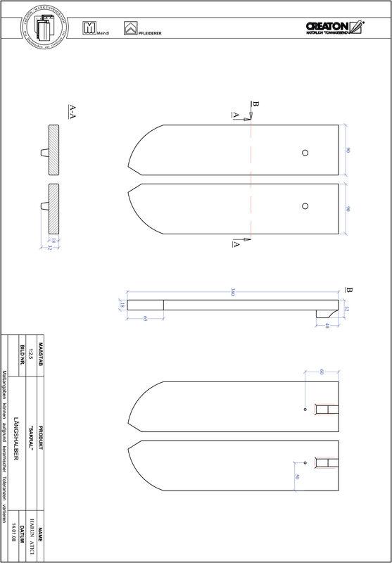 Proizvod CAD file SAKRAL zaobljeni RUND-LH