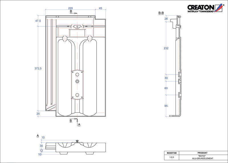 Proizvod CAD file RATIO aluminijski crijep GRUNDALU