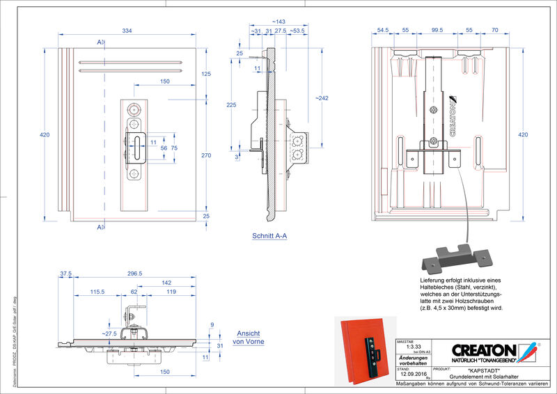 Proizvod CAD file KAPSTADT osnovna ploča Solar