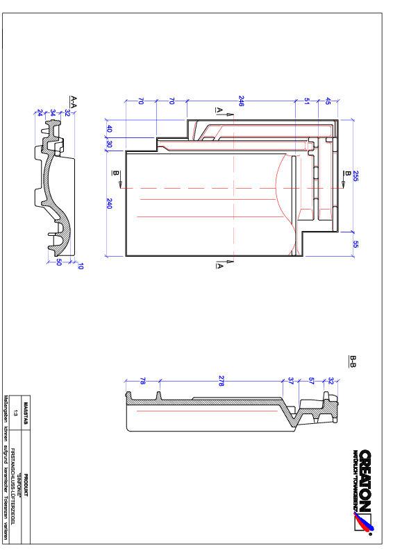 Proizvod CAD file SINFONIE podsljemeni odzračni crijep FALZ