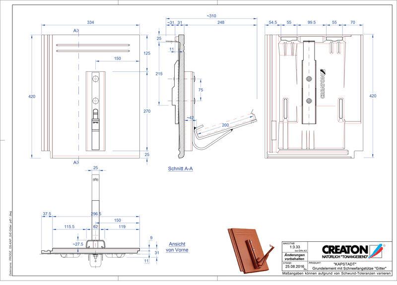 Proizvod CAD file KAPSTADT osnovna ploča Gitter