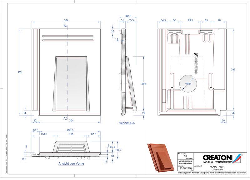 Proizvod CAD file KAPSTADT betonski odzračnik Luefterstein