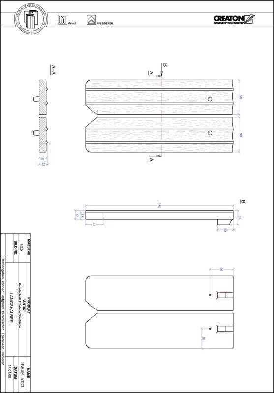 Proizvod CAD file ANTIK ravno rezani GER-LH