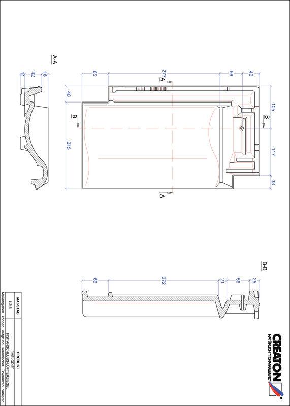 Proizvod CAD file MELODIE podsljemeni odzračni crijep FALZ