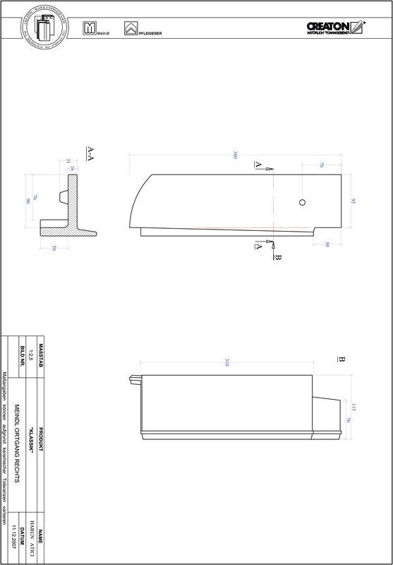 Proizvod CAD file KLASSIK zaobljeni RUND-OGR