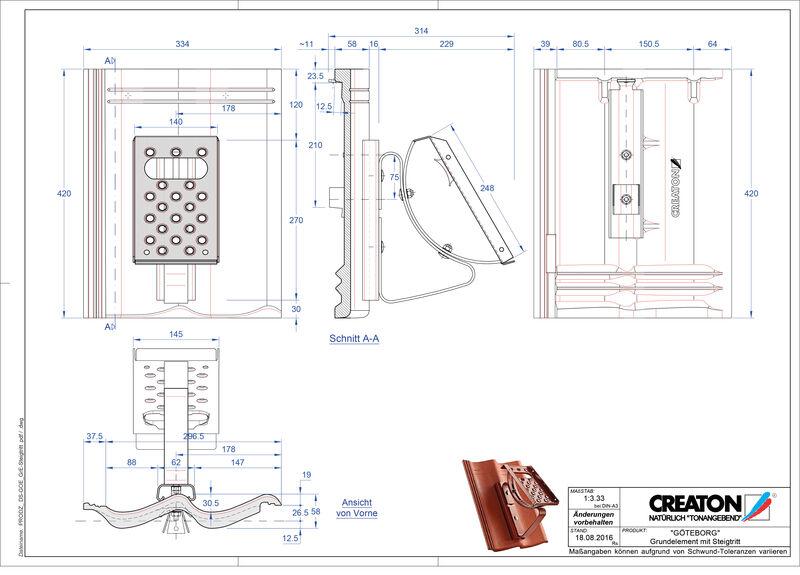 Proizvod CAD file GÖTEBORG temelj element Steigtritt