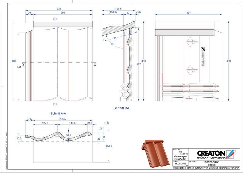 Proizvod CAD file GÖTEBORG betonski pult crijep PULTSTEIN