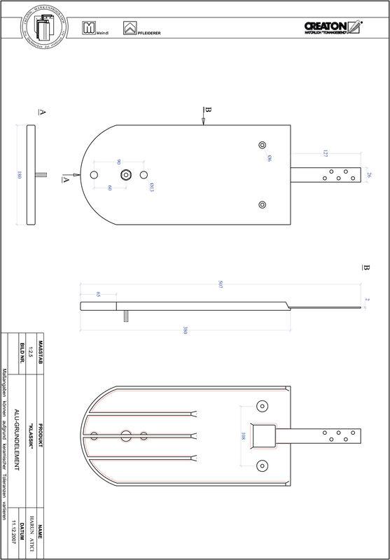Proizvod CAD file KLASSIK zaobljeni RUND-GRUNDALU