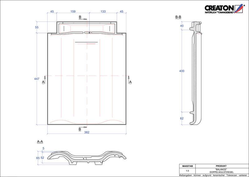 Proizvod CAD file BALANCE crijep sa dva vala DWZ