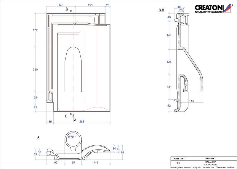Proizvod CAD file BALANCE prolaz cijevi solarnog kolektora SOLAR