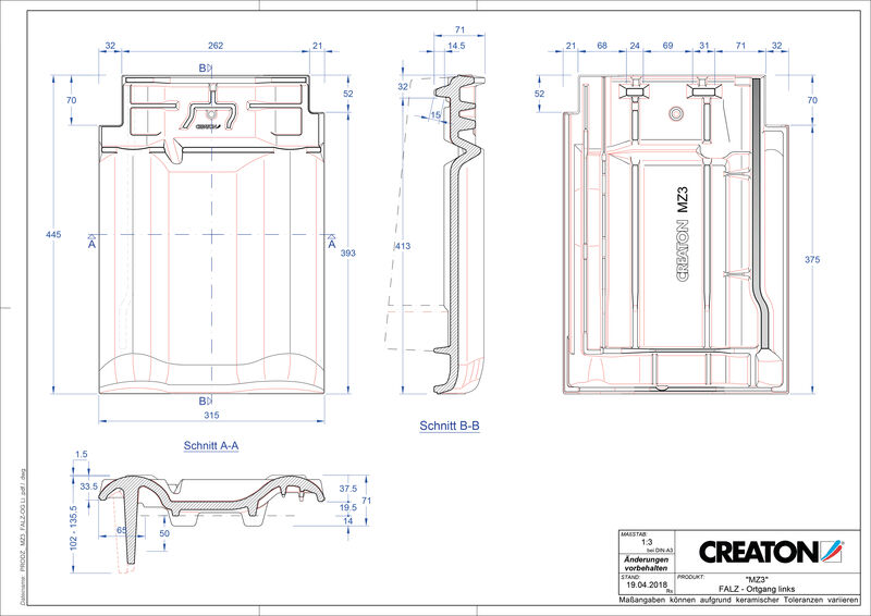 Proizvod CAD file MZ3 NEU podsljemeni odzračni rubni lijevi crijep FALOGL