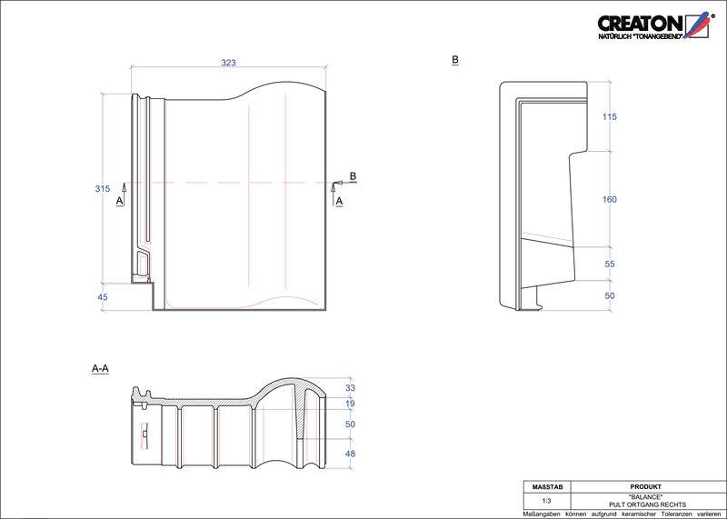 Proizvod CAD file BALANCE pult crijep rubni desni PULTOGR