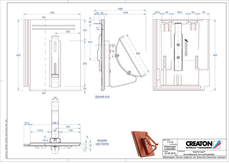 Proizvod CAD file KAPSTADT osnovna ploča Laufrost