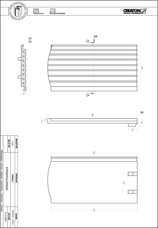 Proizvod CAD file PROFIL segmentni rez STRANGFALZ-GEWELLT-1-1