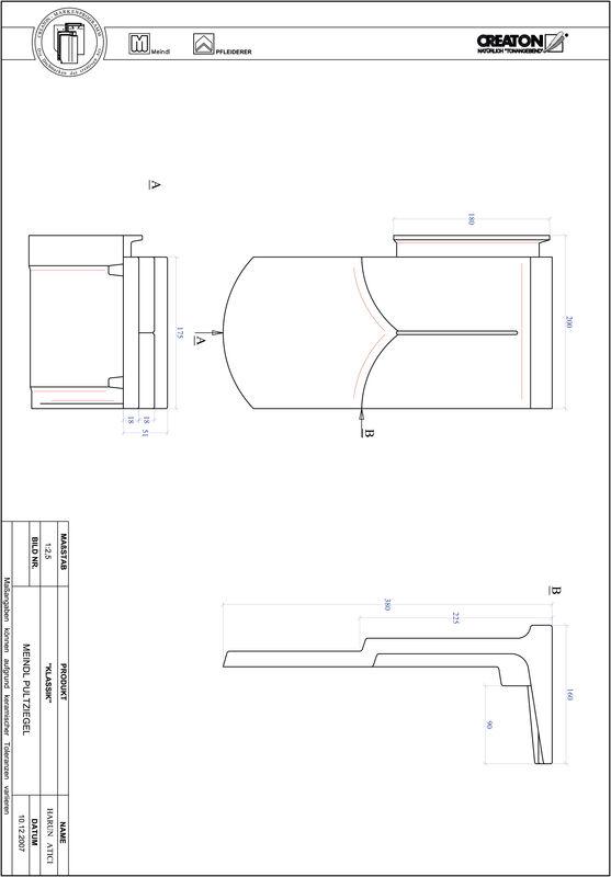Proizvod CAD file KLASSIK zaobljeni RUND-PULT
