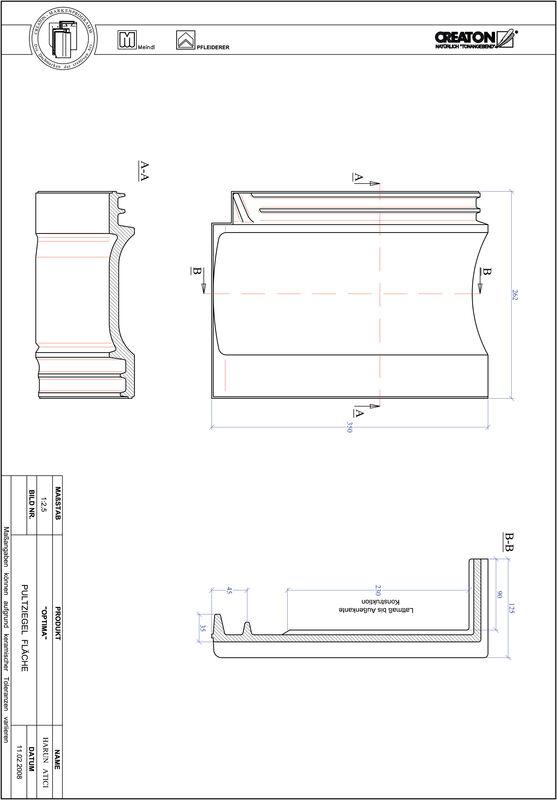 Proizvod CAD file OPTIMA pult crijep PULTFLA