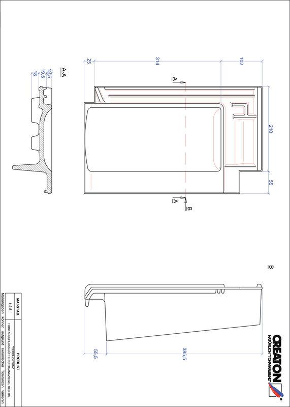 Proizvod CAD file OPTIMA podsljemeni odzračni rubni desni crijep FALOGR
