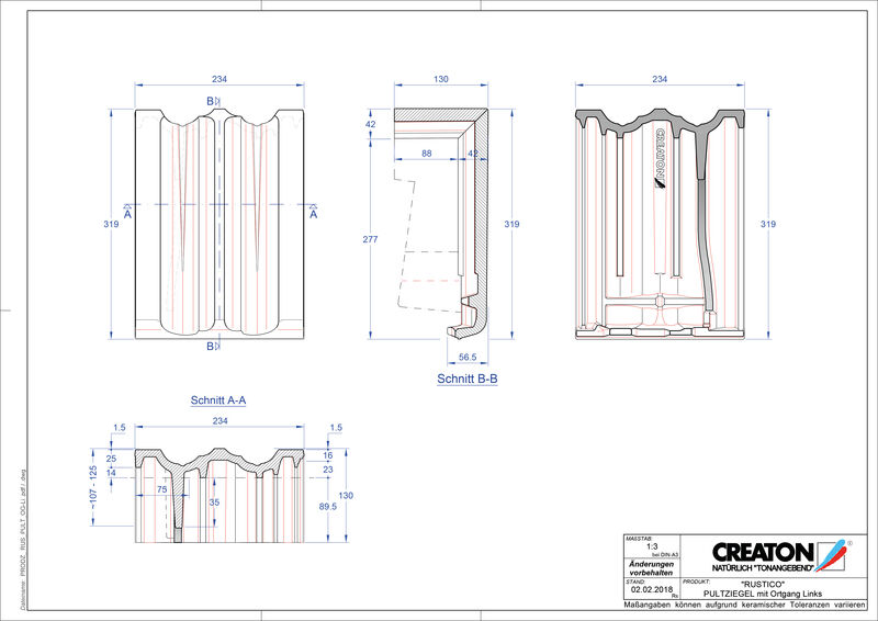 Proizvod CAD file RUSTICO pult crijep rubni lijevi PULTOGL