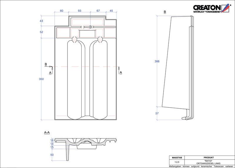Proizvod CAD file RATIO rubni lijevi OGL