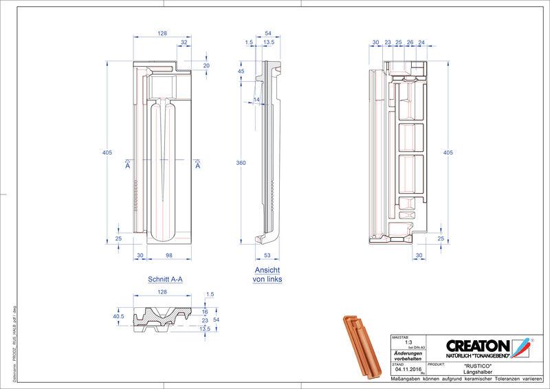 Proizvod CAD file RUSTICO polovica crijepa LH
