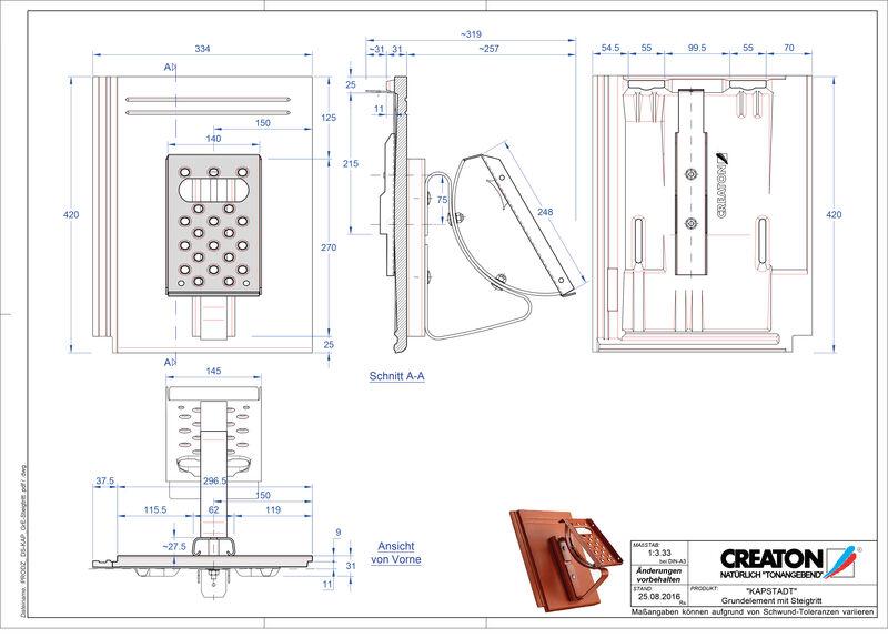 Proizvod CAD file KAPSTADT osnovna ploča Steigtritt
