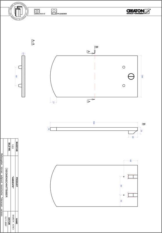 Proizvod CAD file AMBIENTE segmentni rez SEG-1-1