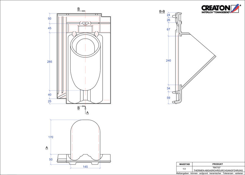 Proizvod CAD file RATIO dimovodni crijep THERME