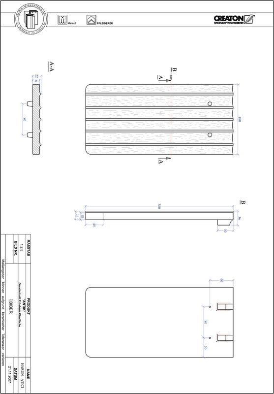 Proizvod CAD file ANTIK ravno rezani GER-ERHO