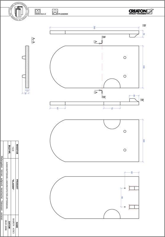 Proizvod CAD file KLASSIK zaobljeni RUND-AUSSCHNITT-LUEFTZ