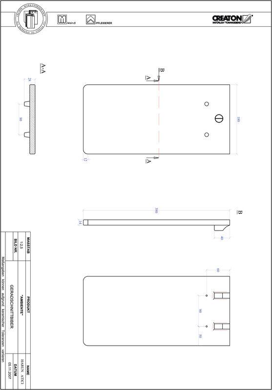 Proizvod CAD file AMBIENTE ravno rezani GER