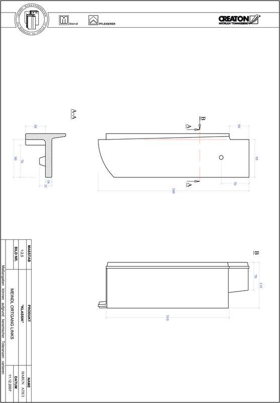 Proizvod CAD file KLASSIK zaobljeni RUND-OGL