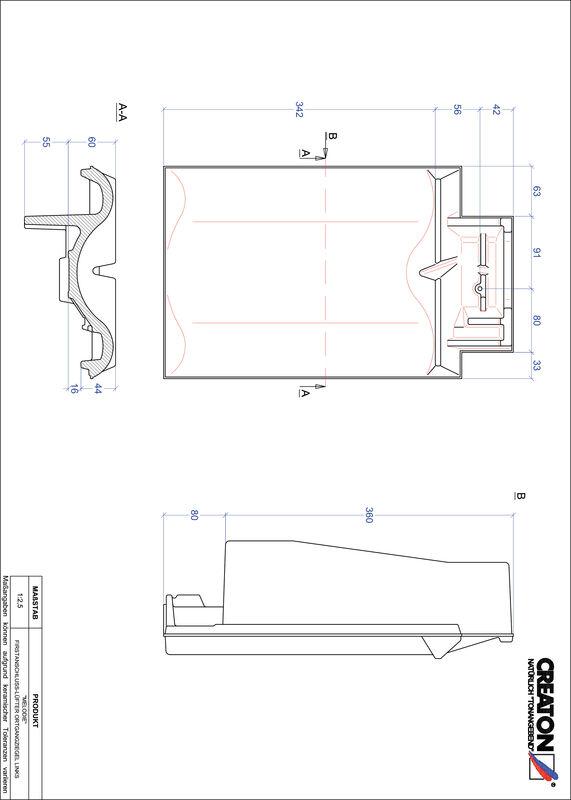 Proizvod CAD file MELODIE podsljemeni odzračni rubni lijevi crijep FALOGL