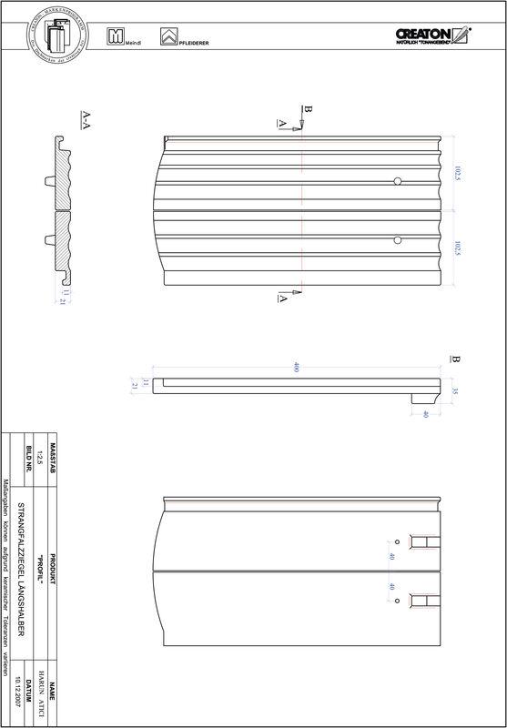 Proizvod CAD file PROFIL segmentni rez STRANGFALZ-GEWELLT-LH