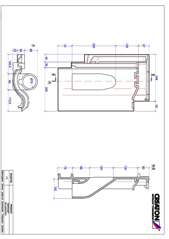 Proizvod CAD file SINFONIE prolaz cijevi solarnog kolektora SOLAR