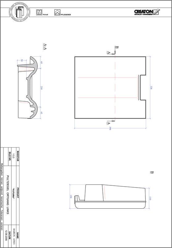 Proizvod CAD file FUTURA pult crijep rubni lijevi PULTOGL