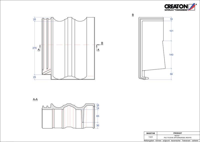 Proizvod CAD file RATIO pult crijep rubni desni PULTOGR