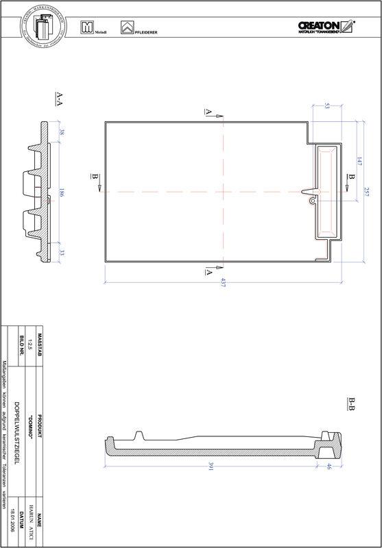 Proizvod CAD file DOMINO crijep sa dva vala DWZ