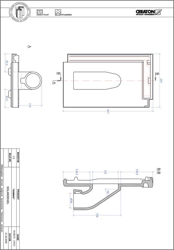 Proizvod CAD file DOMINO prolaz cijevi solarnog kolektora SOLAR