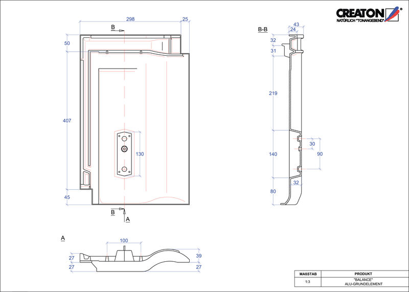 Proizvod CAD file BALANCE aluminijski temelj GRUNDALU