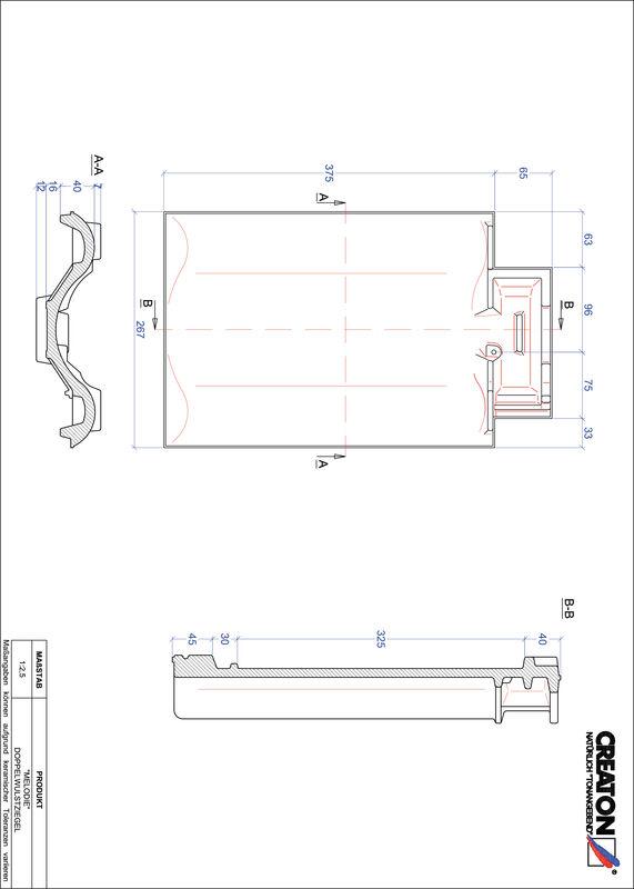 Proizvod CAD file MELODIE crijep sa dva vala DWZ