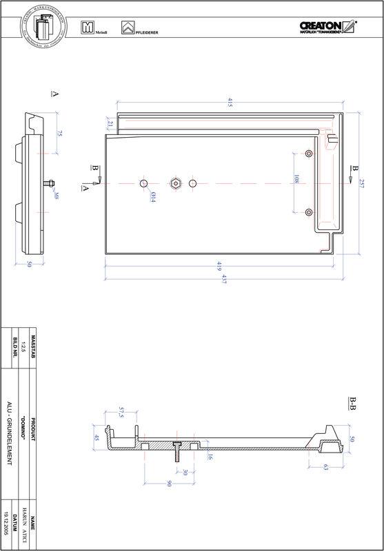 Proizvod CAD file DOMINO aluminijski crijep GRUNDALU