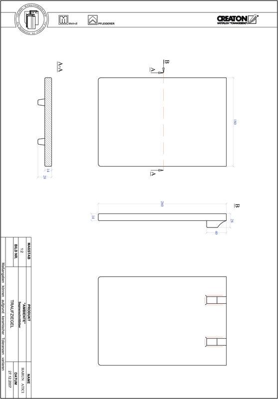 Proizvod CAD file AMBIENTE segmentni rez SEG-TRAUFZIEGEL