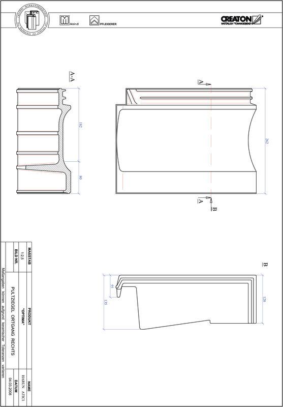 Proizvod CAD file OPTIMA pult crijep rubni desni PULTOGR